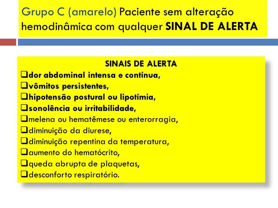 SINAIS DE ALERTA dor abdominal intensa e contínua, dor abdominal intensa e contínua, vômitos persistentes, vômitos persistentes, hipotensão postural o
