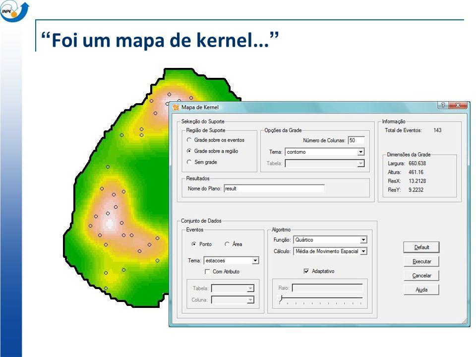 Foi um mapa de kernel...
