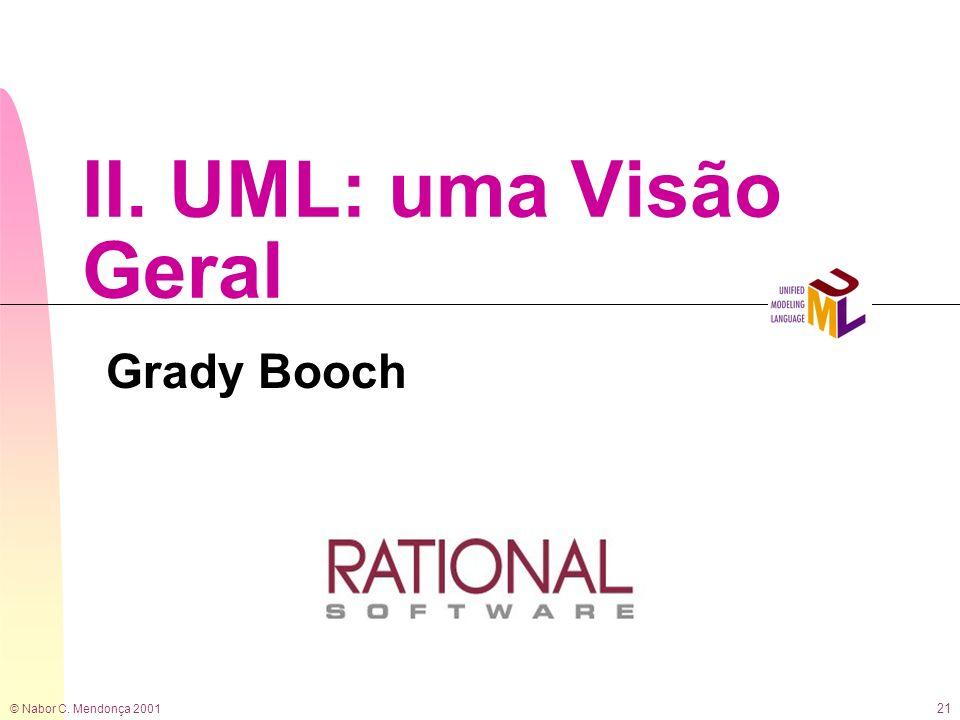 © Nabor C. Mendonça 2001 21 II. UML: uma Visão Geral Grady Booch