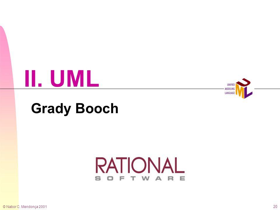© Nabor C. Mendonça 2001 20 II. UML Grady Booch