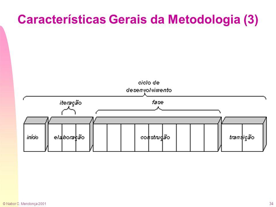 © Nabor C. Mendonça 2001 34 Características Gerais da Metodologia (3)