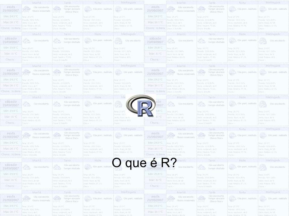 O que é R