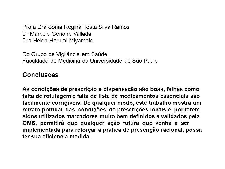 Profa Dra Sonia Regina Testa Silva Ramos Dr Marcelo Genofre Vallada Dra Helen Harumi Miyamoto Do Grupo de Vigilância em Saúde Faculdade de Medicina da