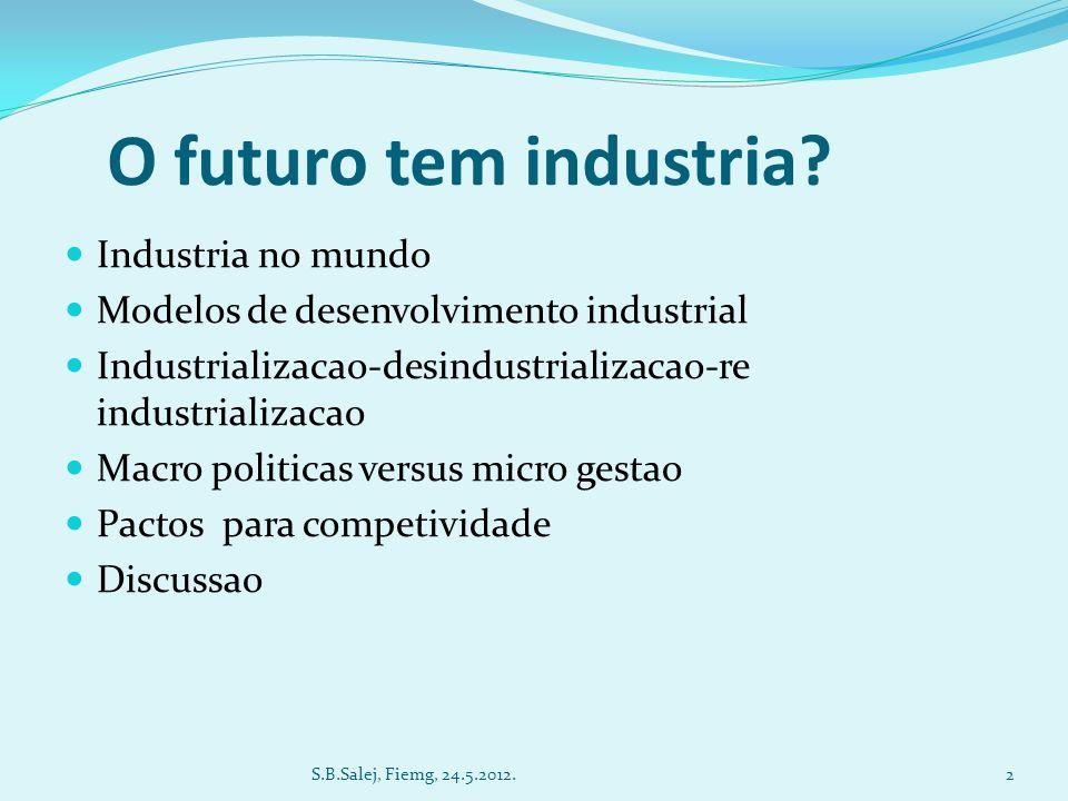 O futuro tem industria.