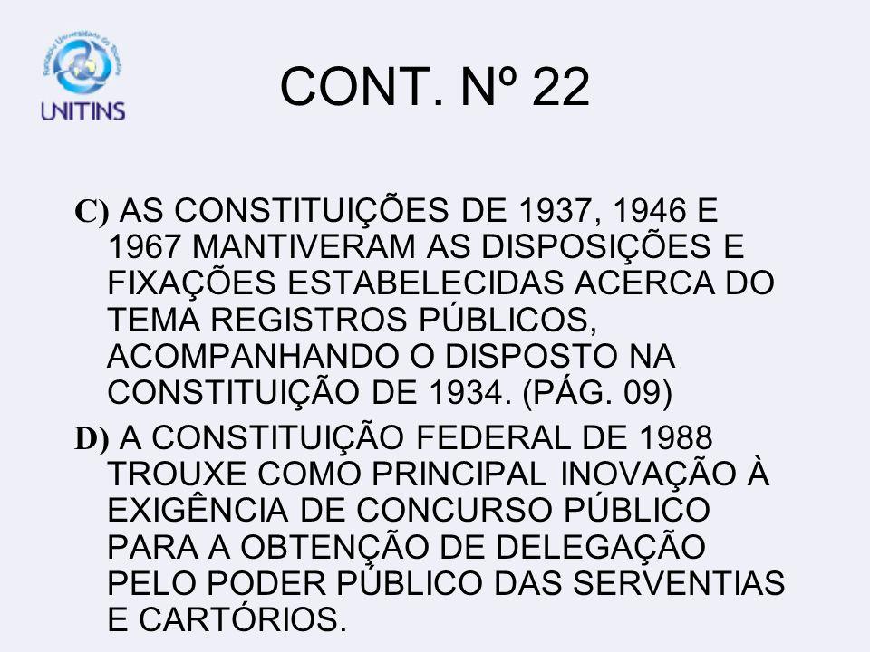 QUESTÃO Nº 23 23- O ART.