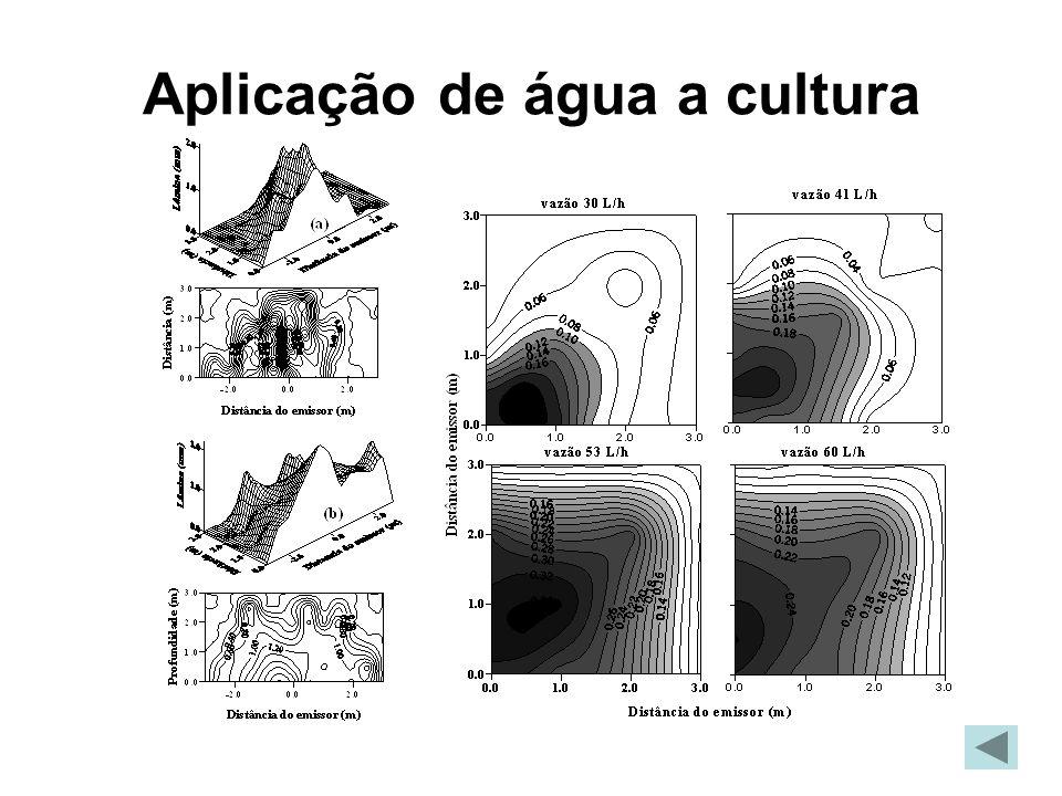 Aplicação de água a cultura