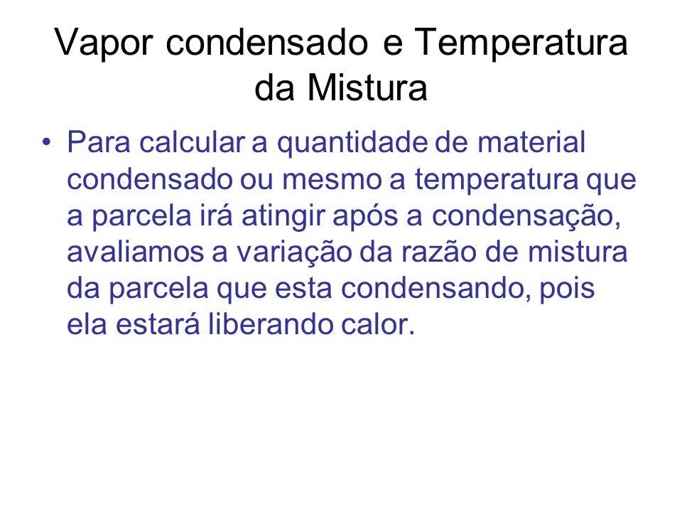Logo o calor liberado durante este processo de condensação pode ser expresso como: Mas pela 1º lei da termodinâmica temos: