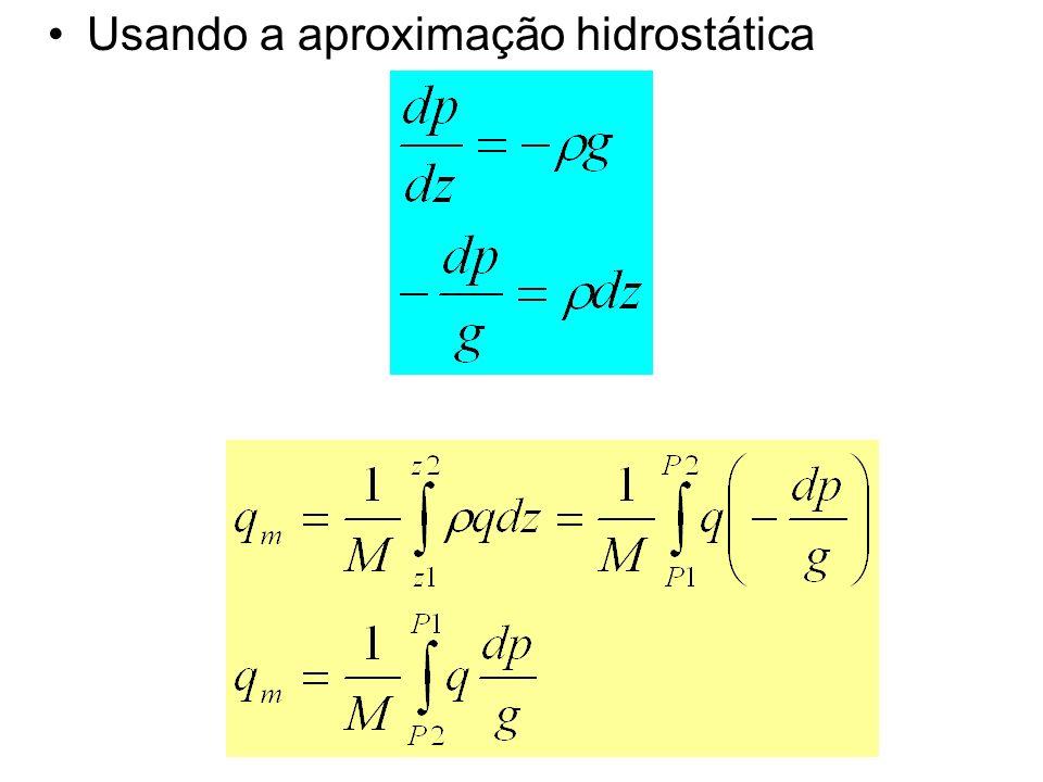 o mesmo se aplica para a razão de mistura (w) e a pressão de vapor (e)