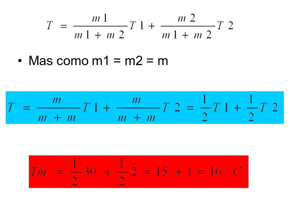 Mas como m1 = m2 = m