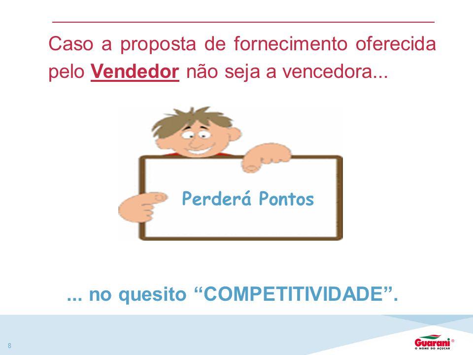 8 Perderá Pontos Caso a proposta de fornecimento oferecida pelo Vendedor não seja a vencedora......