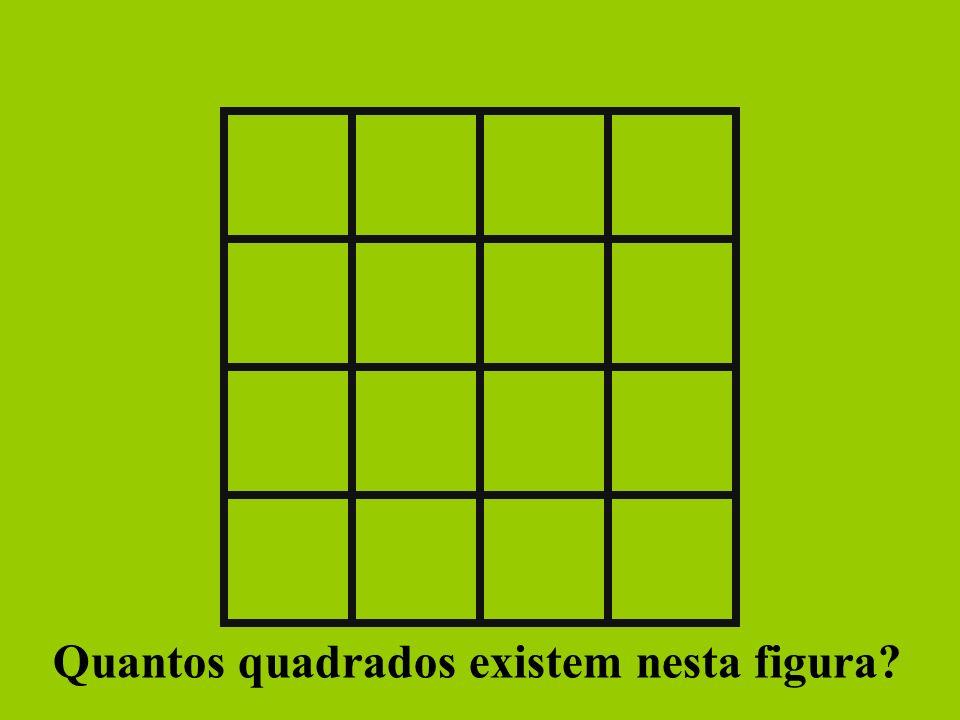 Quantos quadrados existem nesta figura?
