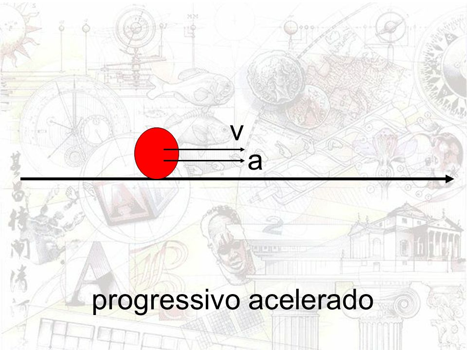 v a progressivo acelerado