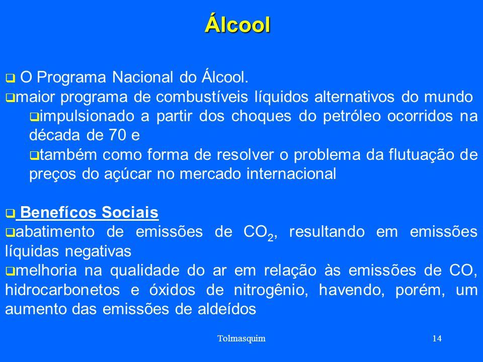 Tolmasquim14Álcool O Programa Nacional do Álcool. maior programa de combustíveis líquidos alternativos do mundo impulsionado a partir dos choques do p