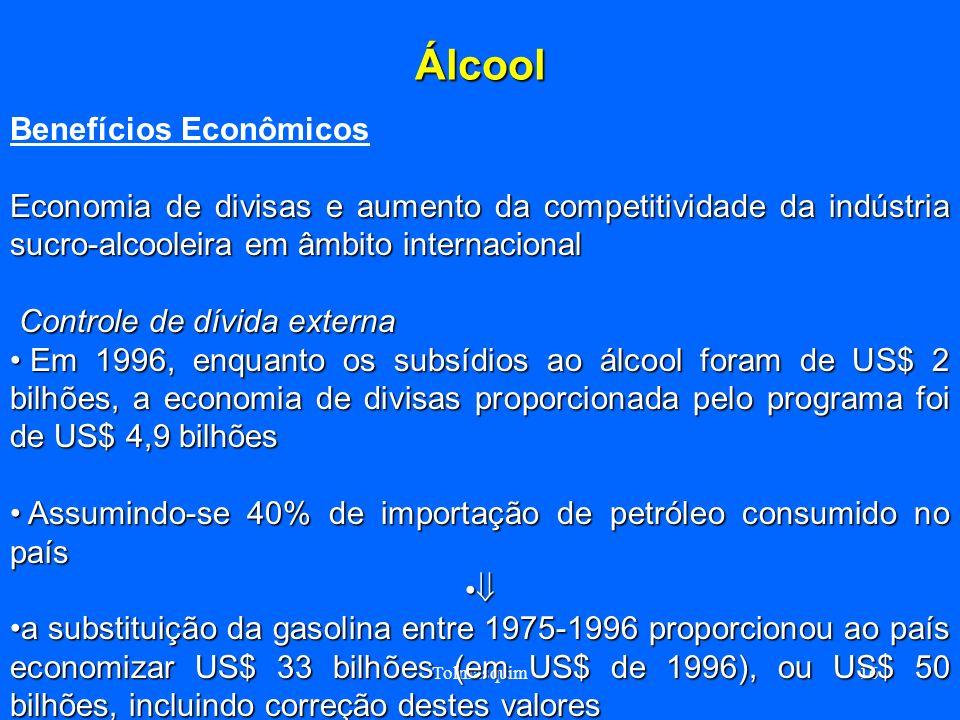 Tolmasquim16 Álcool Benefícios Econômicos Economia de divisas e aumento da competitividade da indústria sucro-alcooleira em âmbito internacional Contr