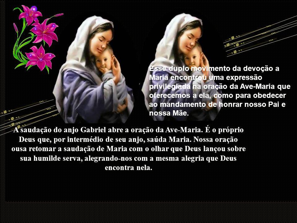 Nas inúmeras manifestações que exprimem uma devoção à Maria, alternam-se, geralmente, dois movimentos: um de