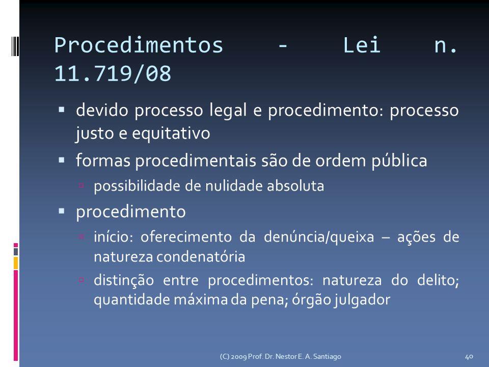 Procedimentos - Lei n.