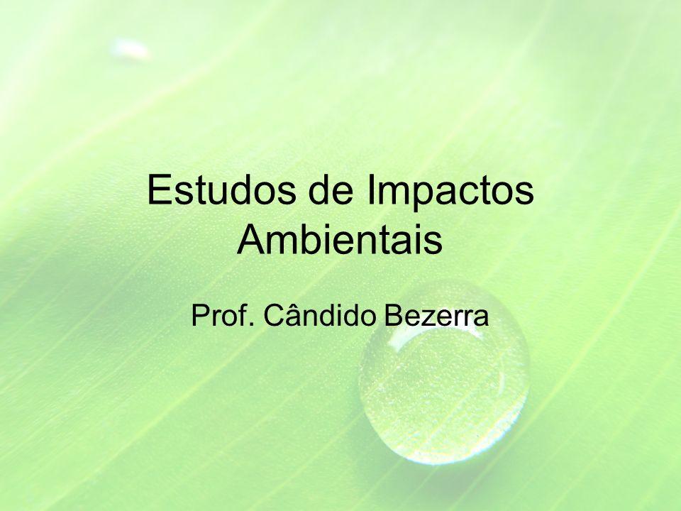 Estudos de Impactos Ambientais Prof. Cândido Bezerra