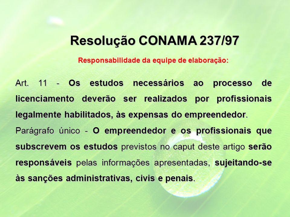 Resolução CONAMA 237/97 Art.