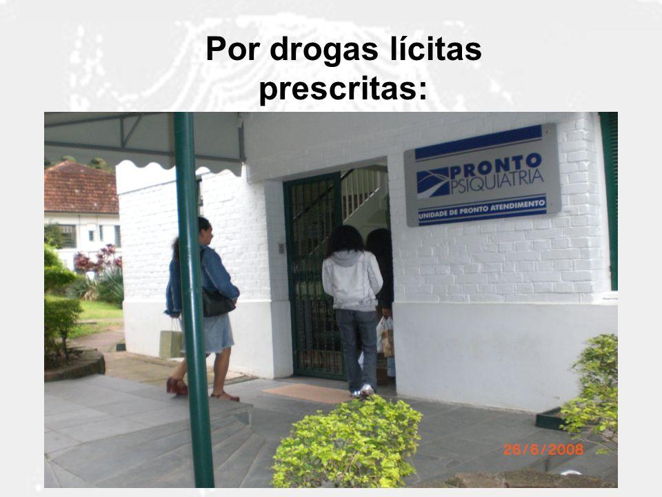 Por drogas lícitas prescritas: