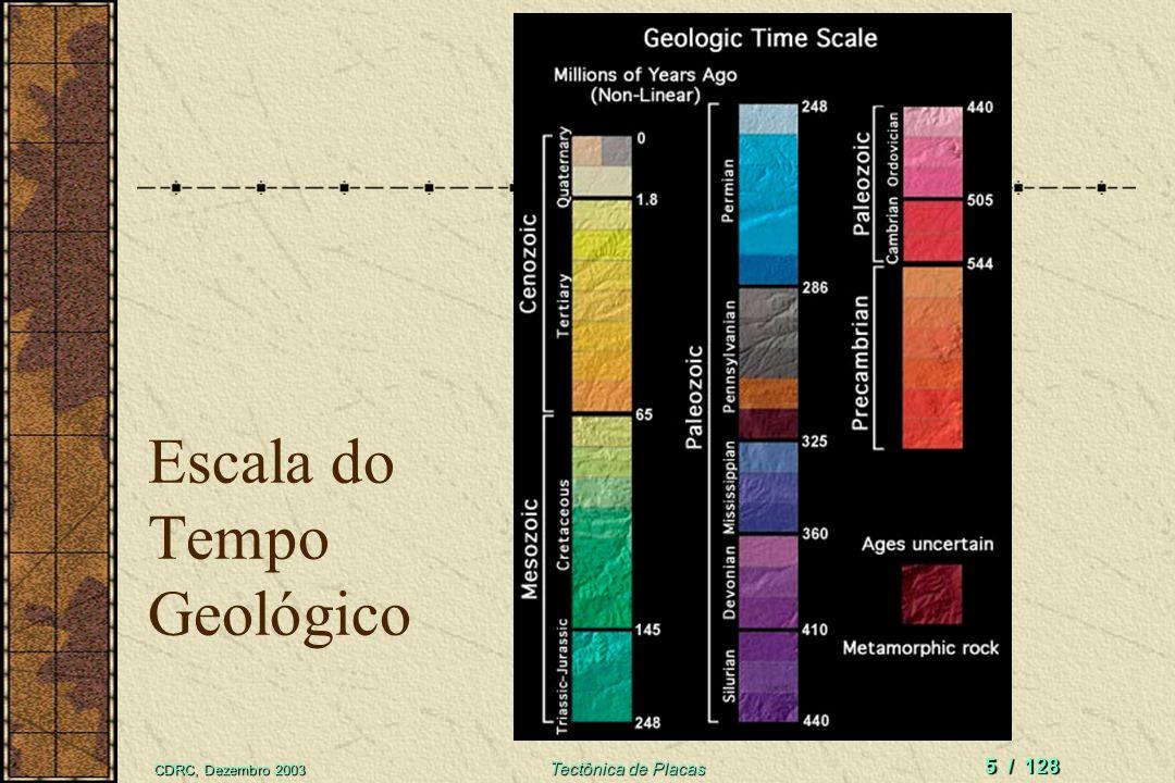 CDRC, Dezembro 2003 Tectônica de Placas 5 / 128 Escala do Tempo Geológico
