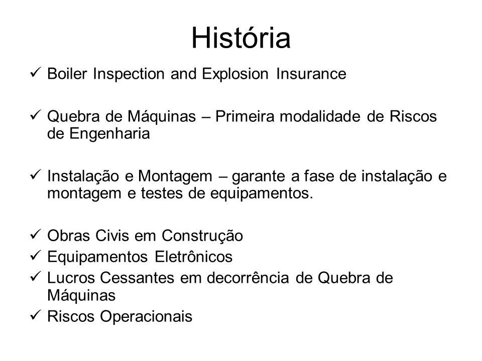História Boiler Inspection and Explosion Insurance Quebra de Máquinas – Primeira modalidade de Riscos de Engenharia Instalação e Montagem – garante a