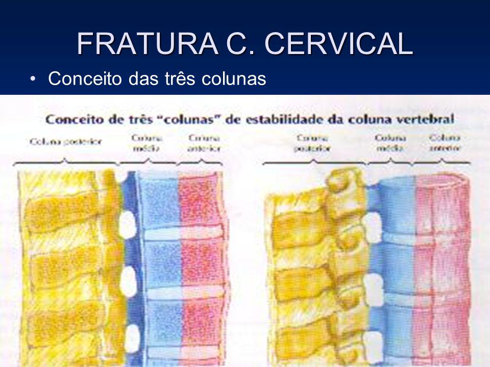 FRATURA C. CERVICAL Conceito das três colunas