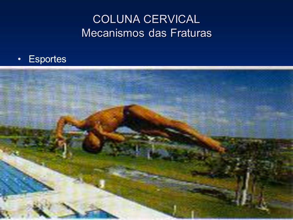 COLUNA CERVICAL Mecanismos das Fraturas Esportes