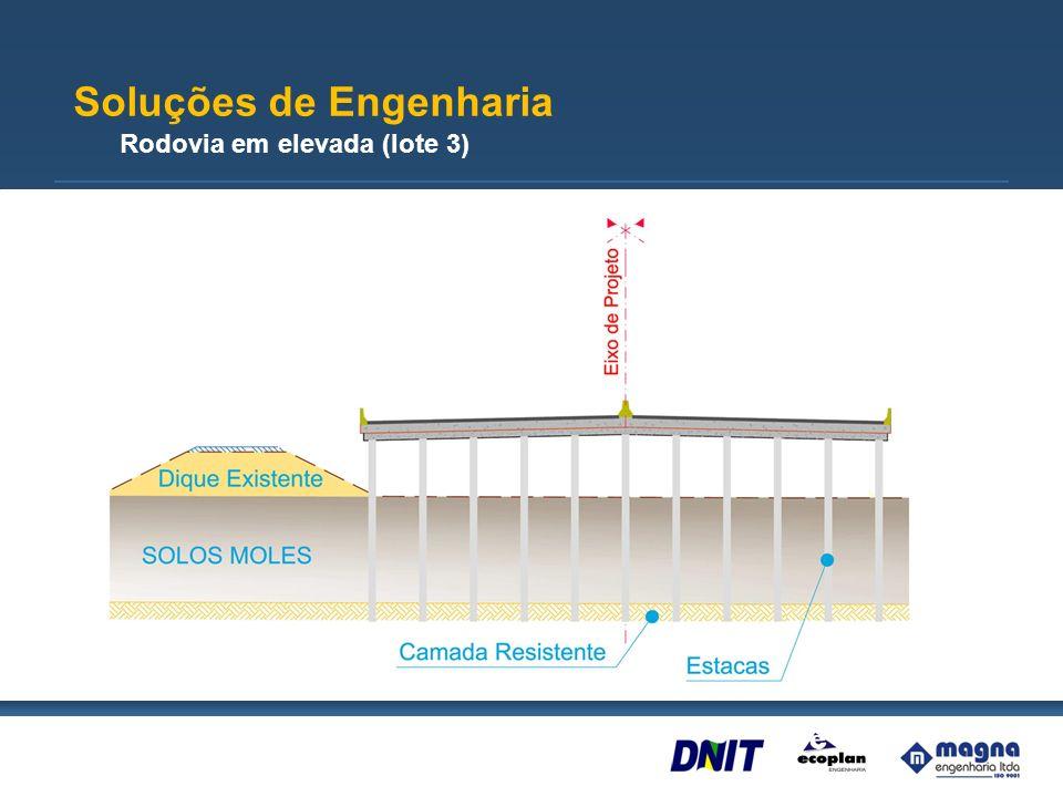 Ponte-Viaduto sobre o Rio Gravataí e BR-290 (lote 3) Extensão – 1.425m Soluções de Engenharia