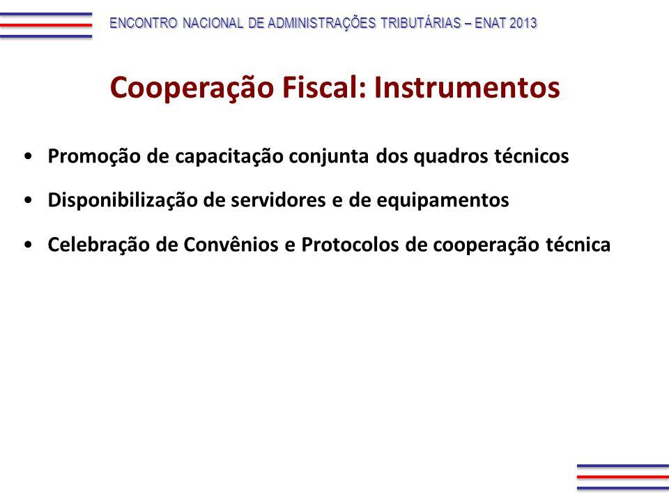 Promoção de capacitação conjunta dos quadros técnicos Disponibilização de servidores e de equipamentos Celebração de Convênios e Protocolos de coopera