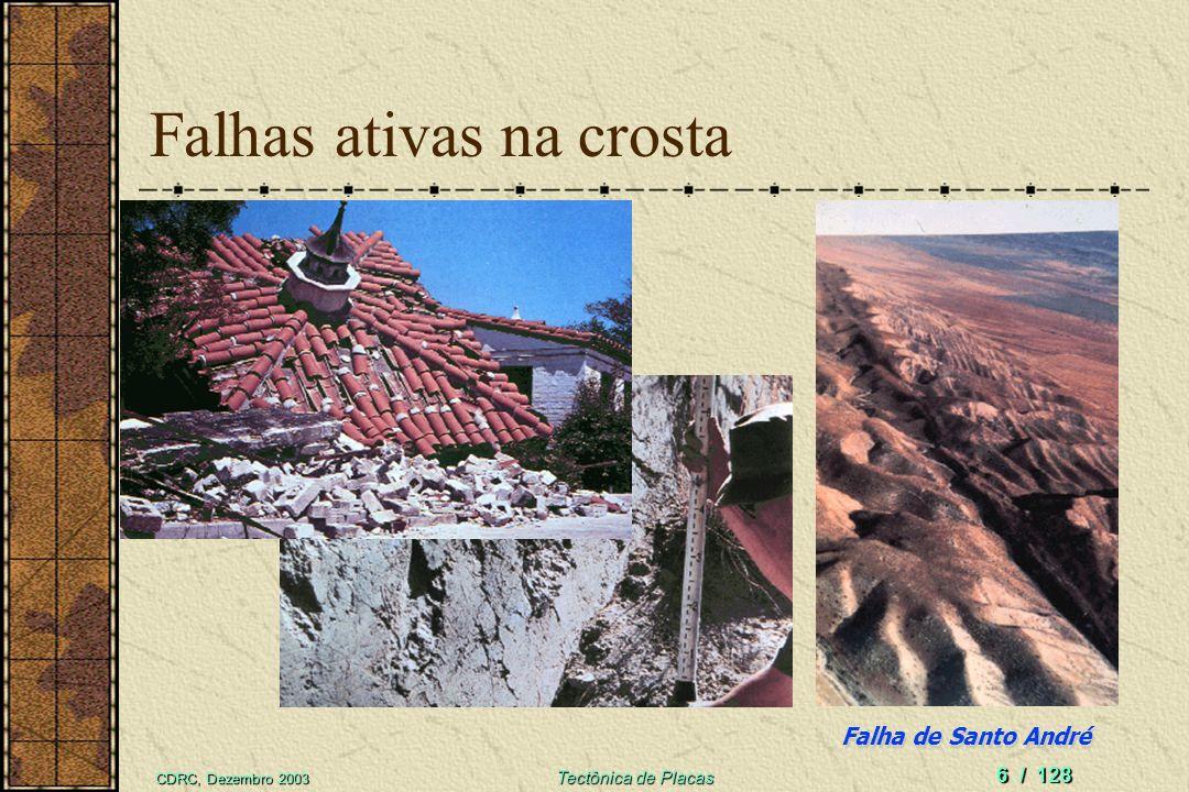 CDRC, Dezembro 2003 Tectônica de Placas 36 / 128 Planta geotermal em The Geysers Proximidades de Santa Rosa, Califórnia, EUA