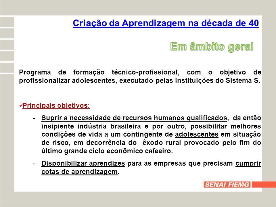 -CLT – Consolidação das Leis do Trabalho -ECA – Estatuto da Criança e do Adolescente (Lei 8.069 de 13/07/1990) -Lei 10.097 de 19/12/2000 (Altera dispositivos da CLT) -Decreto 5.598 de 1º/12/2005 (Regulamenta a contratação de aprendizes) -Resolução 74 de 13/09/2011 do CONANDA (Registro e fiscalização das entidades sem fins lucrativos) -Portaria 615 de 13/12/2007 (Criação do Cadastro Nacional de Aprendizagem) -Instrução Normativa 75 de 08/05/2009 (As datas dos contratos devem coincidir com o início e término do programa de aprendizagem) -Nota Técnica nº 109/2011/DMSC/SIT (Assinatura retroativa de contratos de aprendizagem, quando necessário) Legislação (principais)