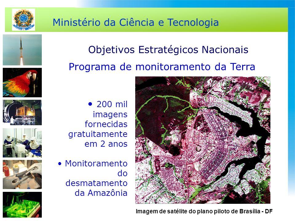 Ministério da Ciência e Tecnologia 200 mil imagens fornecidas gratuitamente em 2 anos Monitoramento do desmatamento da Amazônia Imagem de satélite do