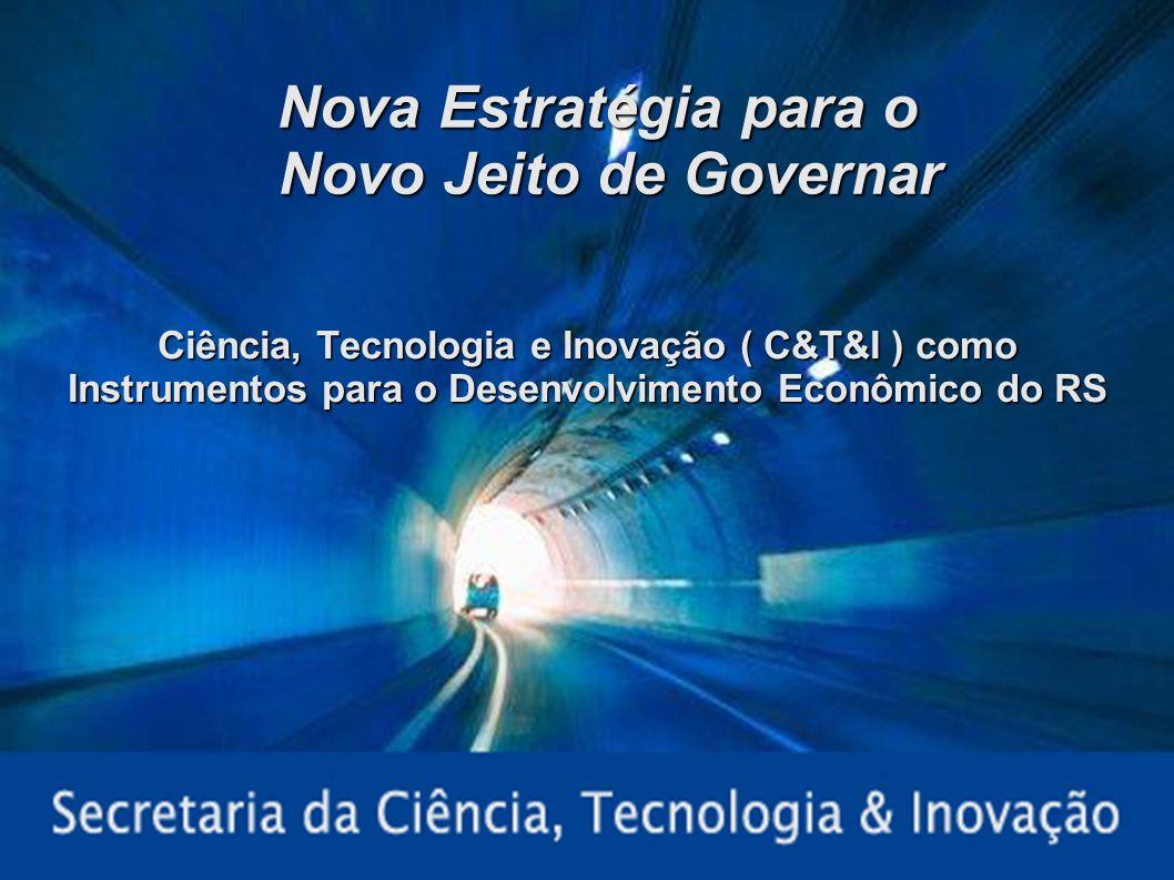 Palestra Federasul – 30/01/20071 Nova Estratégia para o Novo Jeito de Governar Ciência, Tecnologia e Inovação ( C&T&I ) como Instrumentos para o Desen
