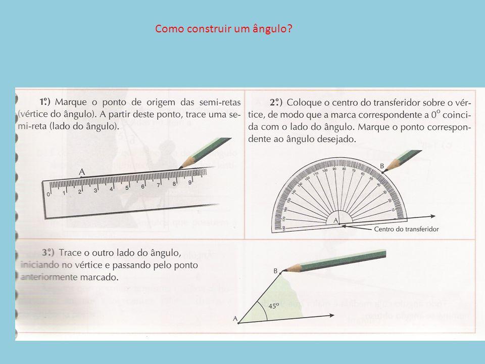 Como construir um ângulo?