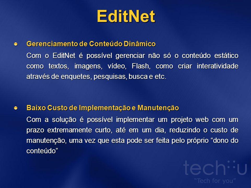 EditNet Programação de Apresentação de Conteúdo Com o sistema EdiNet você pode agendar a publicação, expiração e o arquivamento de qualquer conteúdo, desta forma o seu site estará atualizado, informando sobre novos eventos, palestras etc, podendo-se cadastrar previamente toda a programação agendando a sua publicação.