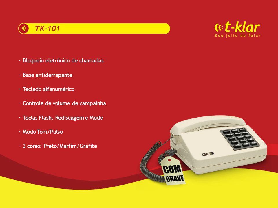 -------------- Líder de mercado Melhor custo/benefício 99 ligações recebidas 25 ligações efetuadas Auto filtro para código de área Rediscagem inteligente 2 cores: Preto/Branco Registra data e hora da ligação 1 ano de garantia Rede de assistência técnica em todo Brasil Controle de luminosidade Indicações em português Funciona com 2 pilhas alcalinas AAA ------------