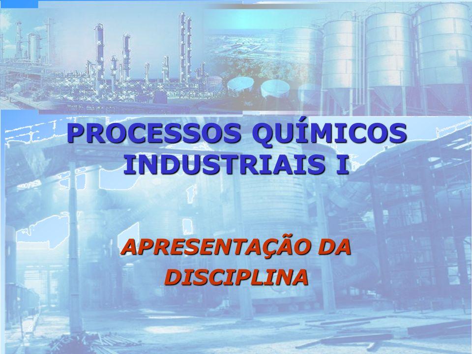 UNIDADES DIDÁTICAS 1.1.Introdução ao estudo dos Processos Químicos Industriais.