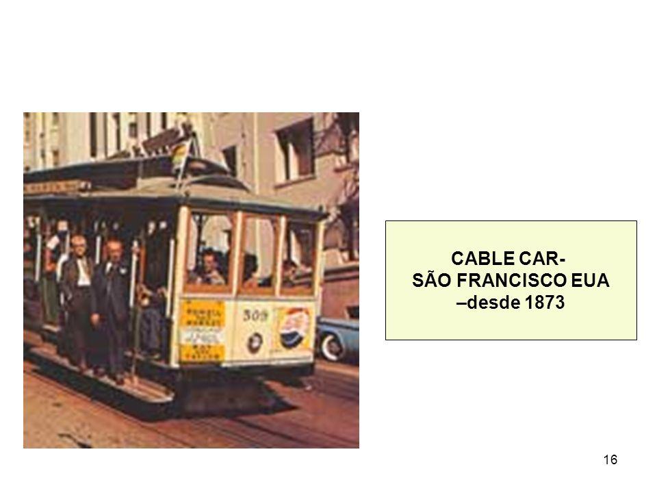 16 CABLE CAR- SÃO FRANCISCO EUA –desde 1873