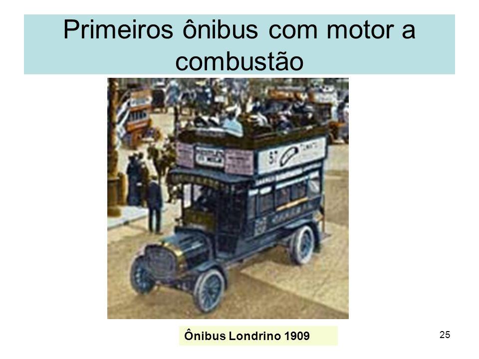 25 Ônibus Londrino 1909 Primeiros ônibus com motor a combustão