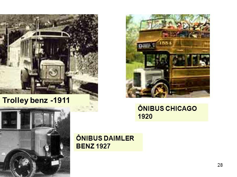 28 Trolley benz -1911 ÔNIBUS DAIMLER BENZ 1927 ÔNIBUS CHICAGO 1920