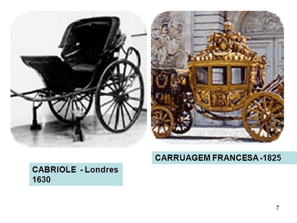7 CARRUAGEM FRANCESA -1825 CABRIOLE - Londres 1630