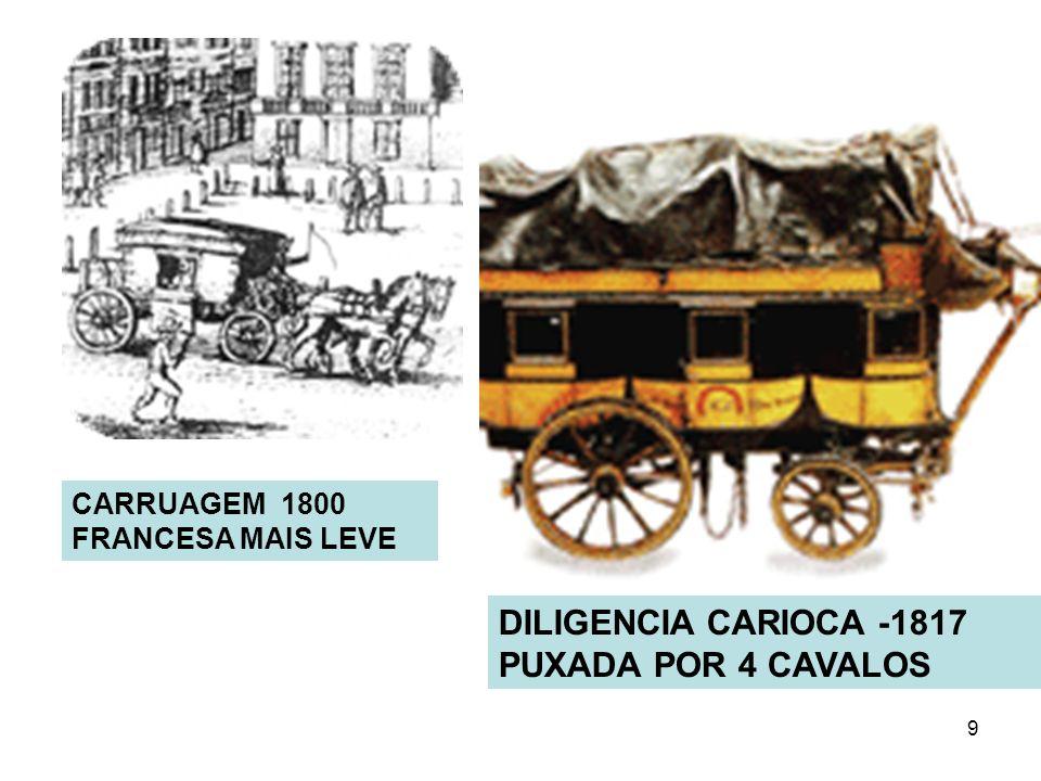 9 DILIGENCIA CARIOCA -1817 PUXADA POR 4 CAVALOS CARRUAGEM 1800 FRANCESA MAIS LEVE