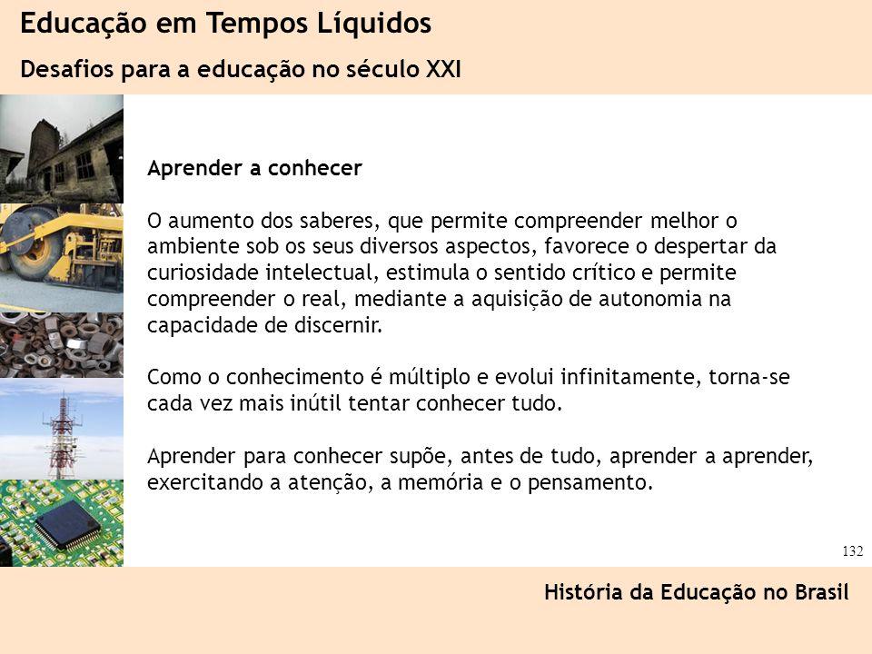 Ciência, Tecnologia e Educação no Brasil Hélio Henkin ( FCE / UFRGS ) 132 Educação em Tempos Líquidos Desafios para a educação no século XXI História