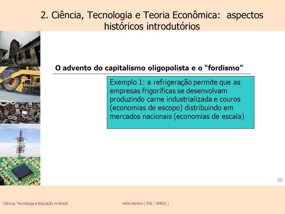 Ciência, Tecnologia e Educação no Brasil Hélio Henkin ( FCE / UFRGS ) 55 2. Ciência, Tecnologia e Teoria Econômica: aspectos históricos introdutórios