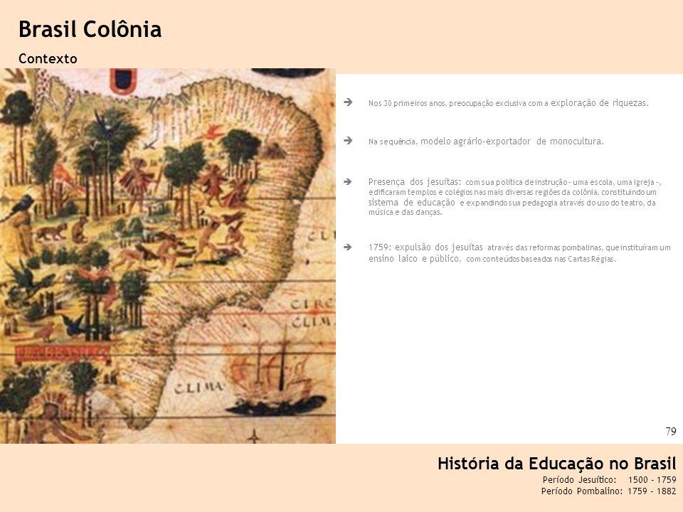 Ciência, Tecnologia e Educação no Brasil Hélio Henkin ( FCE / UFRGS ) 79 Nos 30 primeiros anos, preocupação exclusiva com a exploração de riquezas. Na