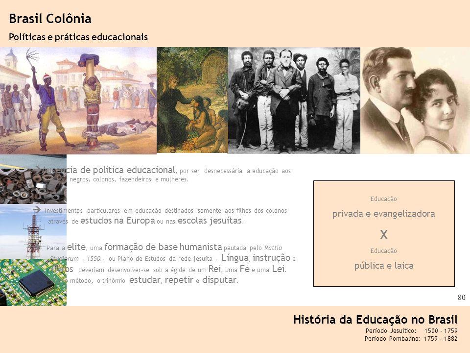 Ciência, Tecnologia e Educação no Brasil Hélio Henkin ( FCE / UFRGS ) 80 Ausência de política educacional, por ser desnecessária a educação aos índios