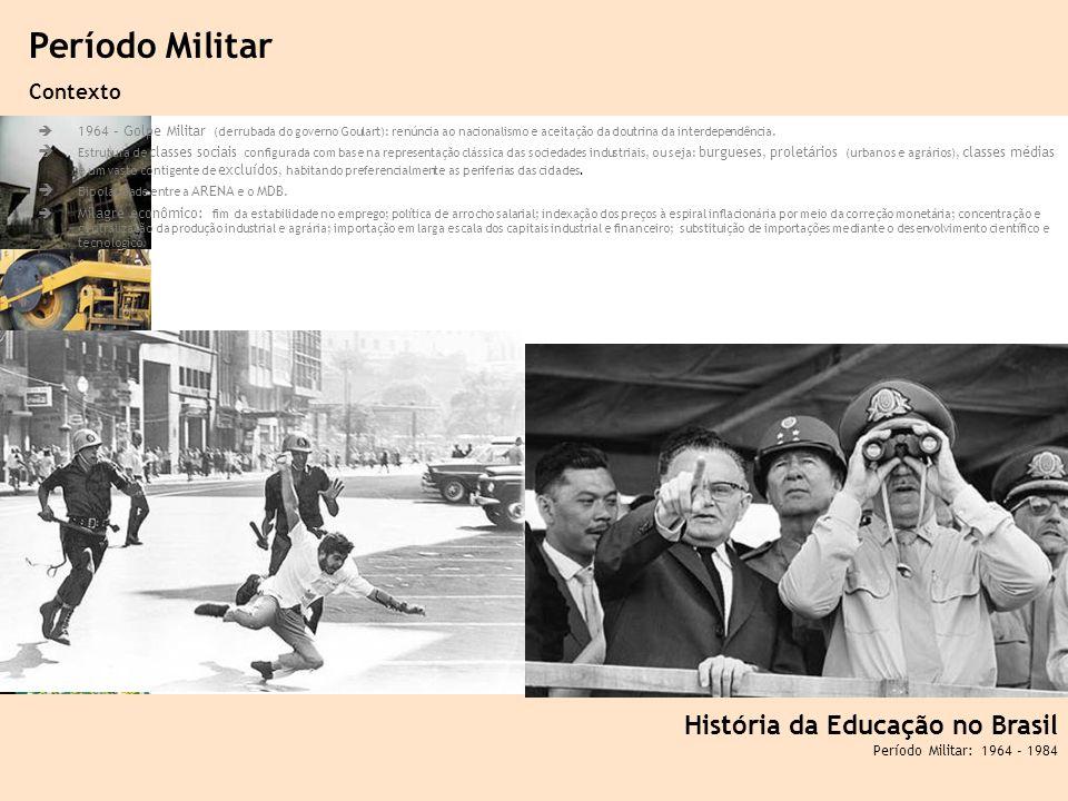 Ciência, Tecnologia e Educação no Brasil Hélio Henkin ( FCE / UFRGS ) 89 1964 – Golpe Militar (derrubada do governo Goulart): renúncia ao nacionalismo