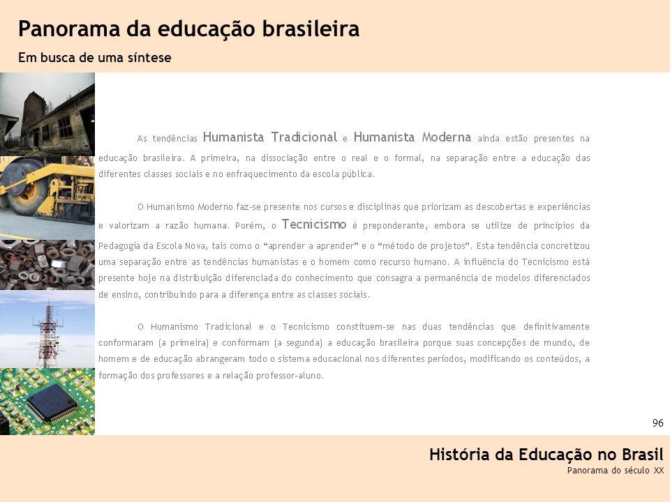 Ciência, Tecnologia e Educação no Brasil Hélio Henkin ( FCE / UFRGS ) 96 História da Educação no Brasil Panorama do século XX Panorama da educação bra