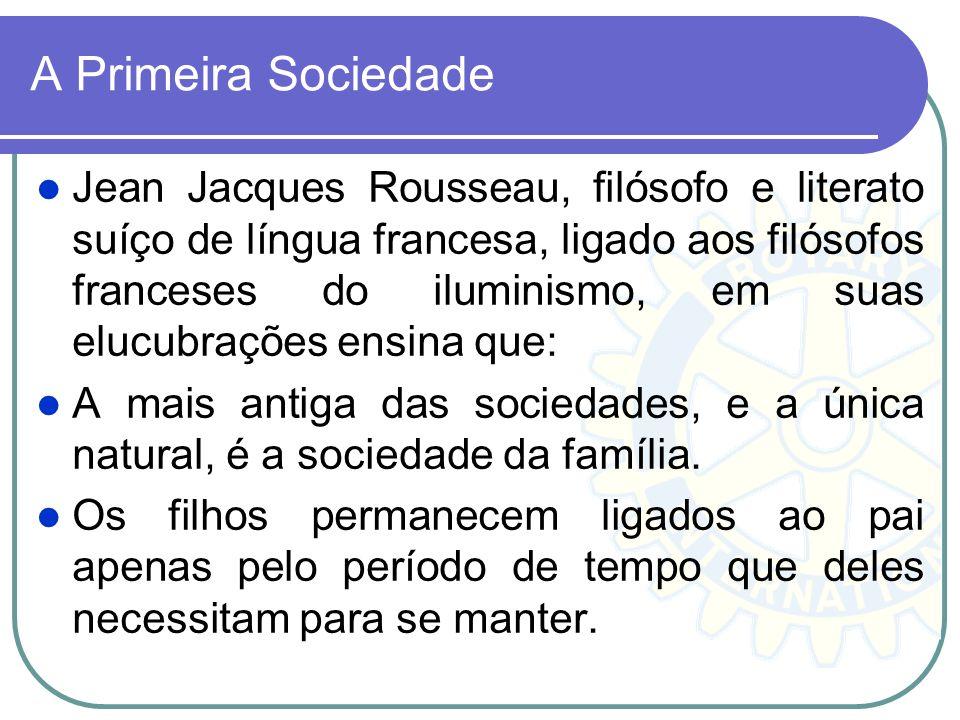 A Primeira Sociedade Jean Jacques Rousseau, filósofo e literato suíço de língua francesa, ligado aos filósofos franceses do iluminismo, em suas elucub