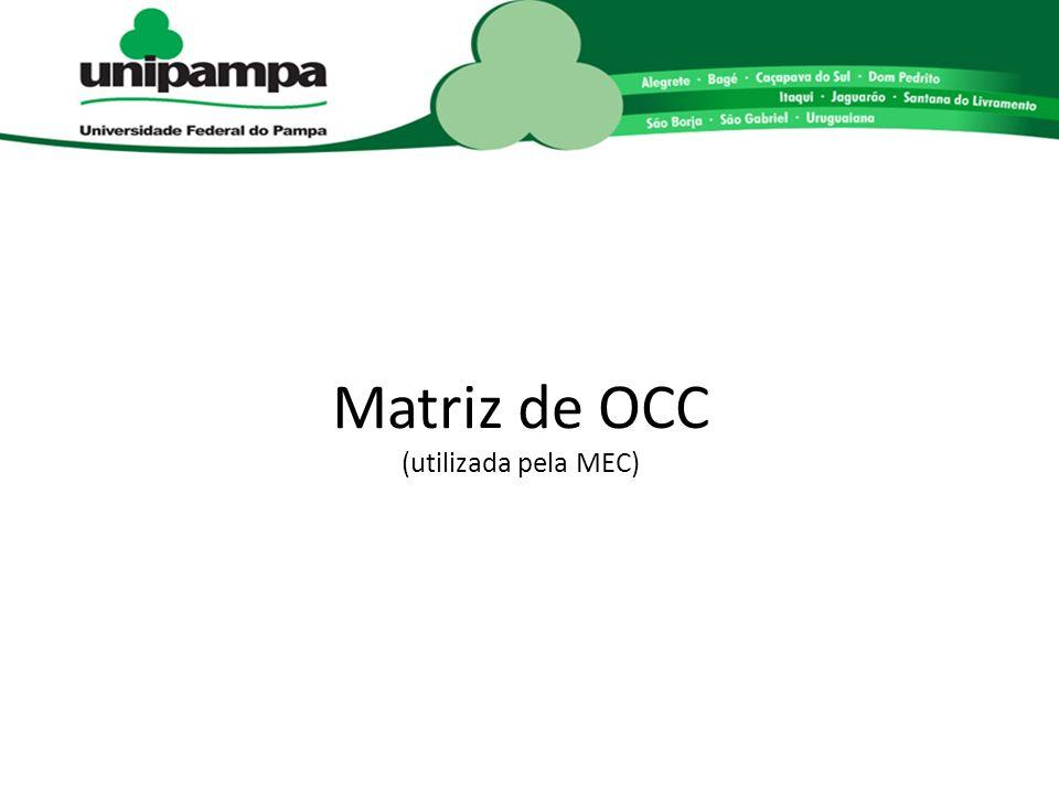 Matriz de OCC (utilizada pela MEC)